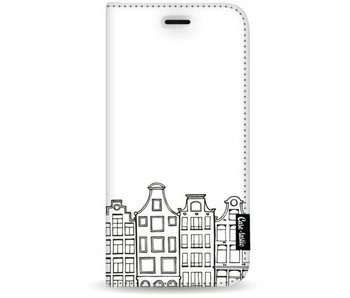 Amsterdam Canal Houses - Wallet Case White Samsung Galaxy S8 Plus