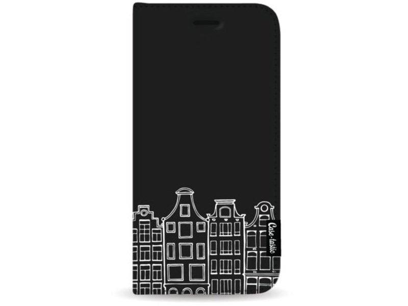 Casetastic Wallet Case Black Apple iPhone 8 Plus - Amsterdam Canal Houses White