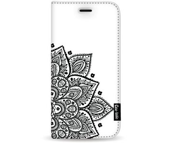 Floral Mandala - Wallet Case White Samsung Galaxy S8 Plus