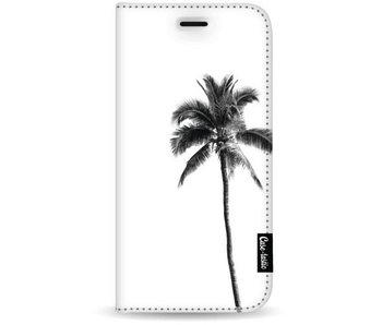 Palm Tree Transparent - Wallet Case White Samsung Galaxy S8 Plus