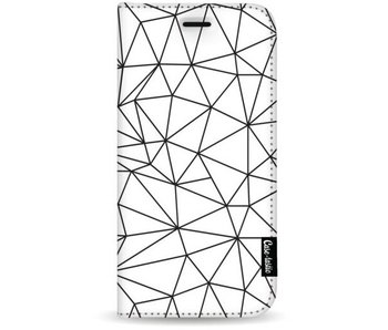 So Many Lines! Black - Wallet Case White Apple iPhone 8 Plus
