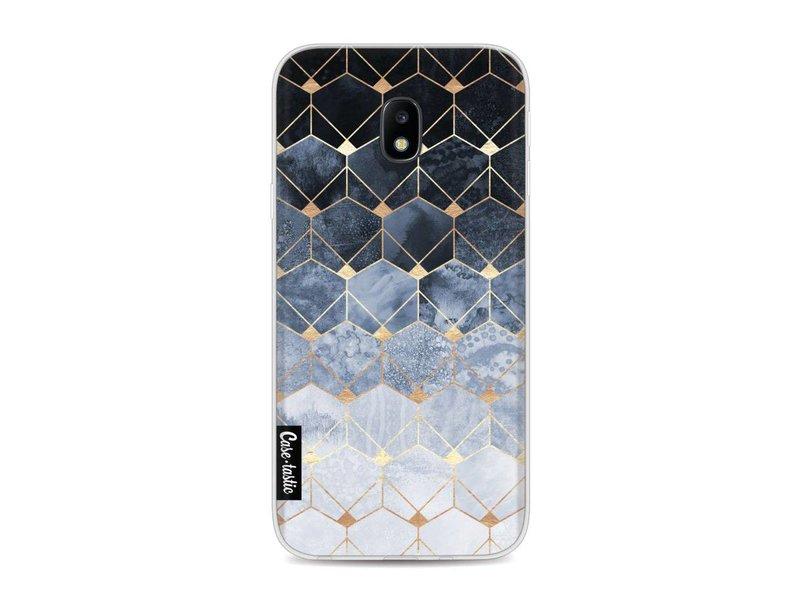 Casetastic Softcover Samsung Galaxy J3 (2017) - Blue Hexagon Diamonds