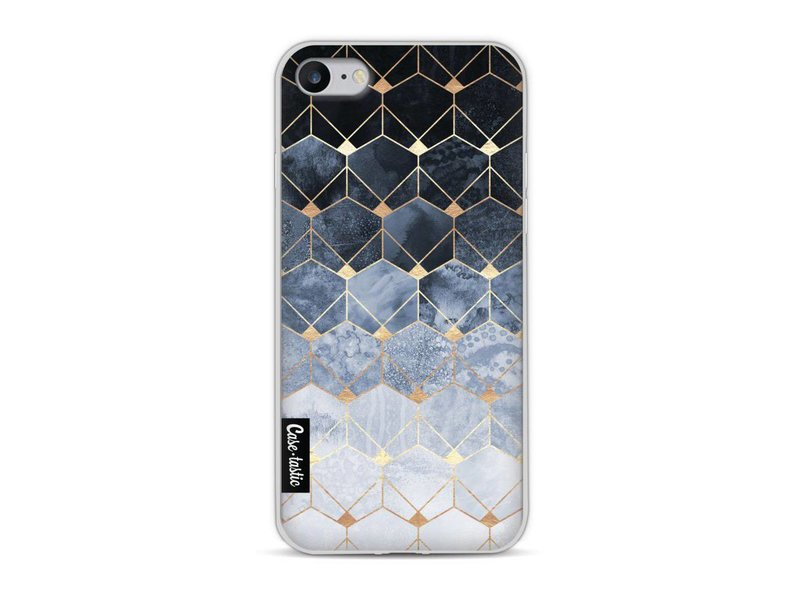 Casetastic Softcover Apple iPhone 8 - Blue Hexagon Diamonds