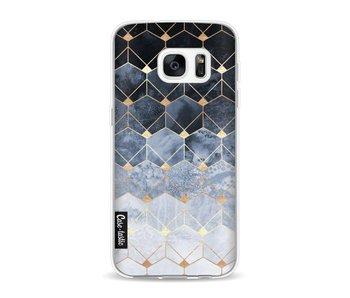 Blue Hexagon Diamonds - Samsung Galaxy S7