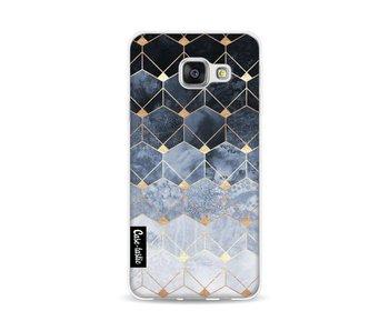 Blue Hexagon Diamonds - Samsung Galaxy A3 (2016)