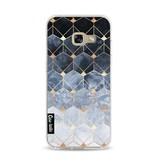 Casetastic Softcover Samsung Galaxy A3 (2017)  - Blue Hexagon Diamonds