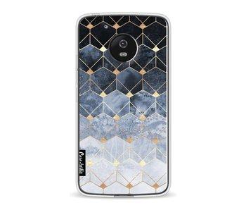Blue Hexagon Diamonds - Motorola Moto G5