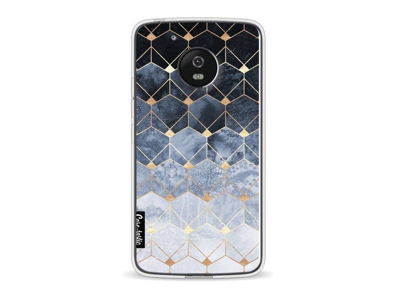Casetastic Softcover Motorola Moto G5 - Blue Hexagon Diamonds
