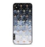 Casetastic Softcover Apple iPhone X - Blue Hexagon Diamonds