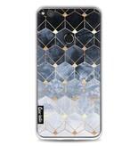 Casetastic Softcover Huawei P8 Lite (2017) - Blue Hexagon Diamonds