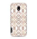 Casetastic Softcover Samsung Galaxy J3 (2017) - Copper Geo