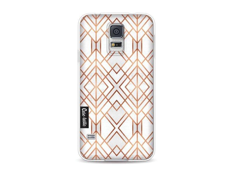 Casetastic Softcover Samsung Galaxy S5  - Copper Geo
