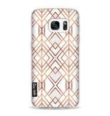 Casetastic Softcover Samsung Galaxy S7 - Copper Geo