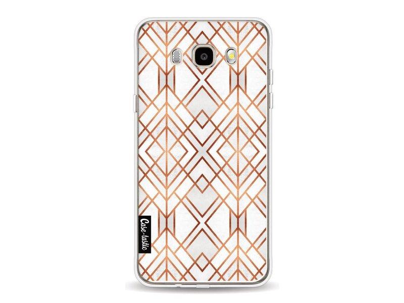 Casetastic Softcover Samsung Galaxy J5 (2016) - Copper Geo