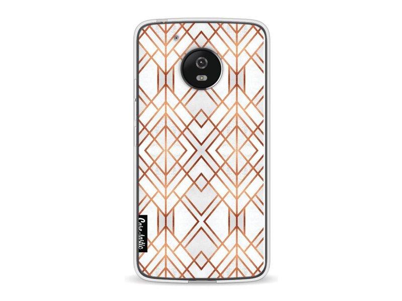 Casetastic Softcover Motorola Moto G5 - Copper Geo