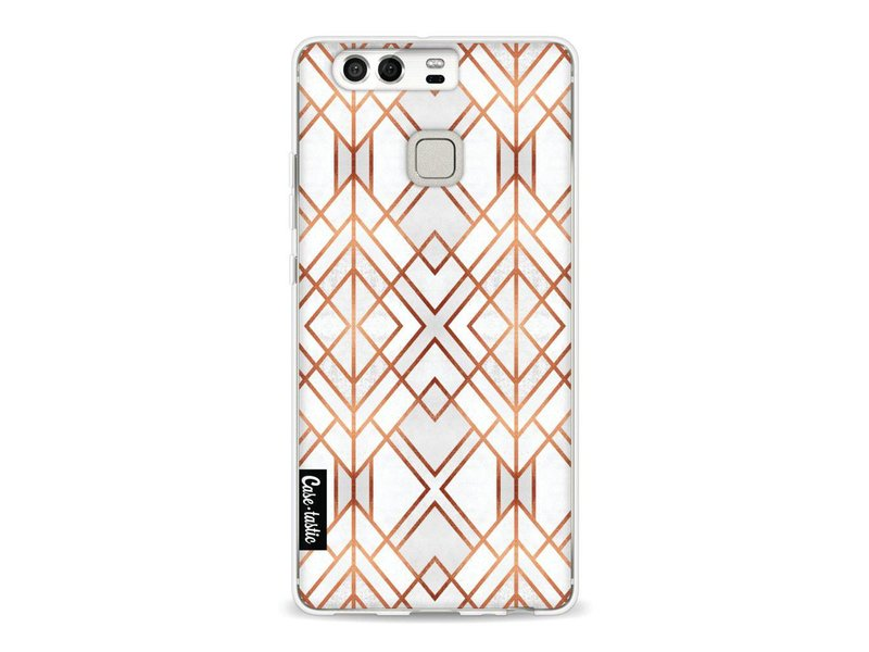 Casetastic Softcover Huawei P9 - Copper Geo