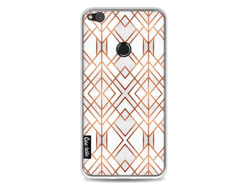 Casetastic Softcover Huawei P8 Lite (2017) - Copper Geo