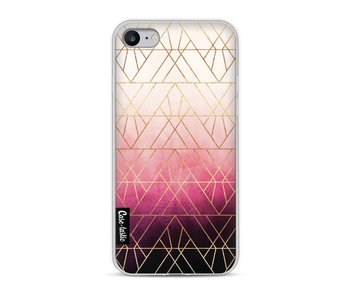 Pink Ombre Triangles - Apple iPhone 8