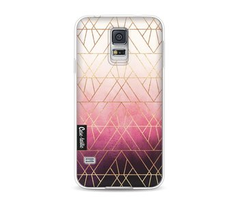 Pink Ombre Triangles - Samsung Galaxy S5