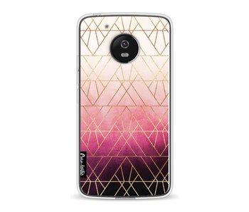 Pink Ombre Triangles - Motorola Moto G5