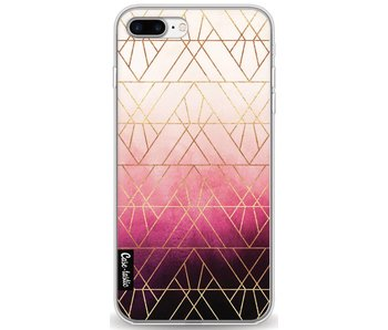 Pink Ombre Triangles - Apple iPhone 7 Plus