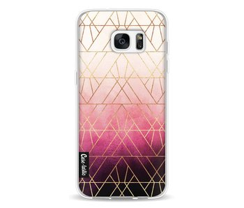 Pink Ombre Triangles - Samsung Galaxy S7 Edge