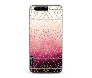 Pink Ombre Triangles - Huawei P10