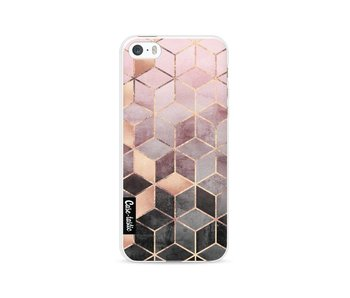 Soft Pink Gradient Cubes - Apple iPhone 5 / 5s / SE