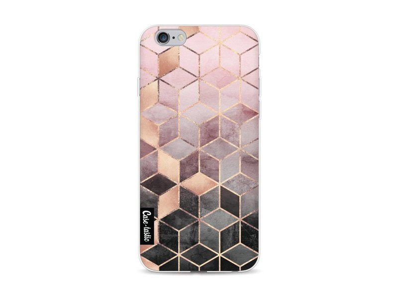 Casetastic Softcover Apple iPhone 6 / 6s - Soft Pink Gradient Cubes