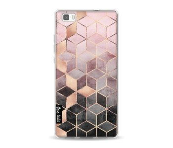 Soft Pink Gradient Cubes - Huawei P8 Lite