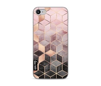 Soft Pink Gradient Cubes - Apple iPhone 7