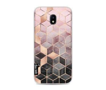 Soft Pink Gradient Cubes - Samsung Galaxy J3 (2017)