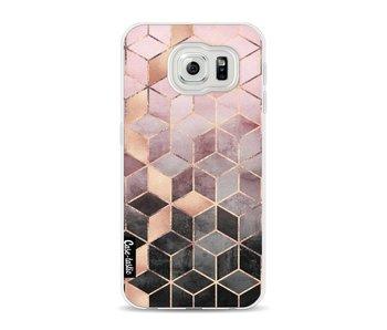 Soft Pink Gradient Cubes - Samsung Galaxy S6