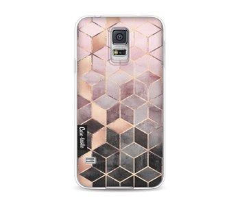 Soft Pink Gradient Cubes - Samsung Galaxy S5