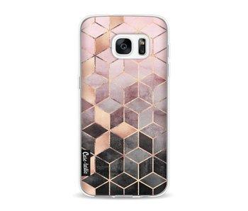 Soft Pink Gradient Cubes - Samsung Galaxy S7