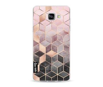 Soft Pink Gradient Cubes - Samsung Galaxy A5 (2016)
