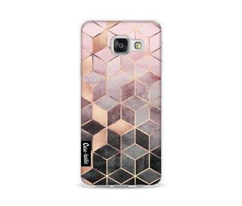Soft Pink Gradient Cubes - Samsung Galaxy A3 (2016)