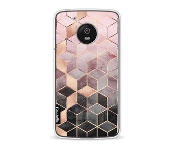 Soft Pink Gradient Cubes - Motorola Moto G5