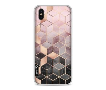 Soft Pink Gradient Cubes - Apple iPhone X
