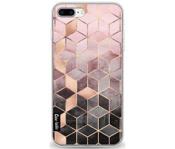 Soft Pink Gradient Cubes - Apple iPhone 7 Plus