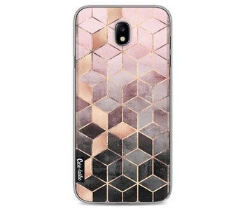 Soft Pink Gradient Cubes - Samsung Galaxy J7 (2017)