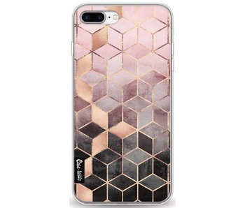 Soft Pink Gradient Cubes - Apple iPhone 8 Plus