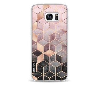 Soft Pink Gradient Cubes - Samsung Galaxy S7 Edge