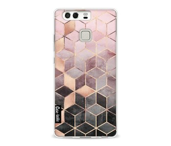 Soft Pink Gradient Cubes - Huawei P9