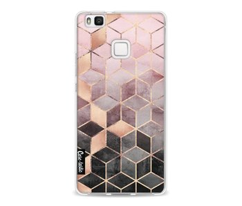 Soft Pink Gradient Cubes - Huawei P9 Lite