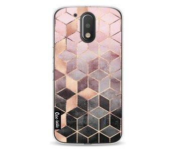 Soft Pink Gradient Cubes - Motorola Moto G4 / G4 Plus