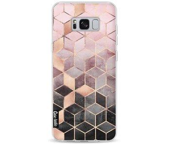 Soft Pink Gradient Cubes - Samsung Galaxy S8 Plus