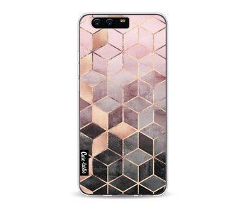 Soft Pink Gradient Cubes - Huawei P10
