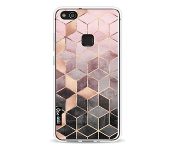 Soft Pink Gradient Cubes - Huawei P10 Lite