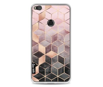 Soft Pink Gradient Cubes - Huawei P8 Lite (2017)